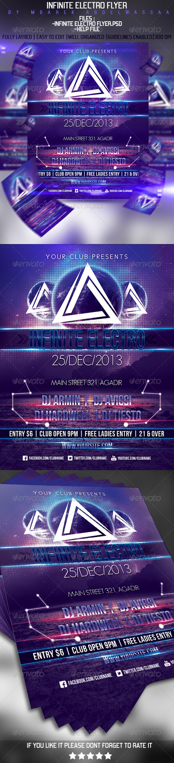 Infinite Electro Flyer - Events Flyers