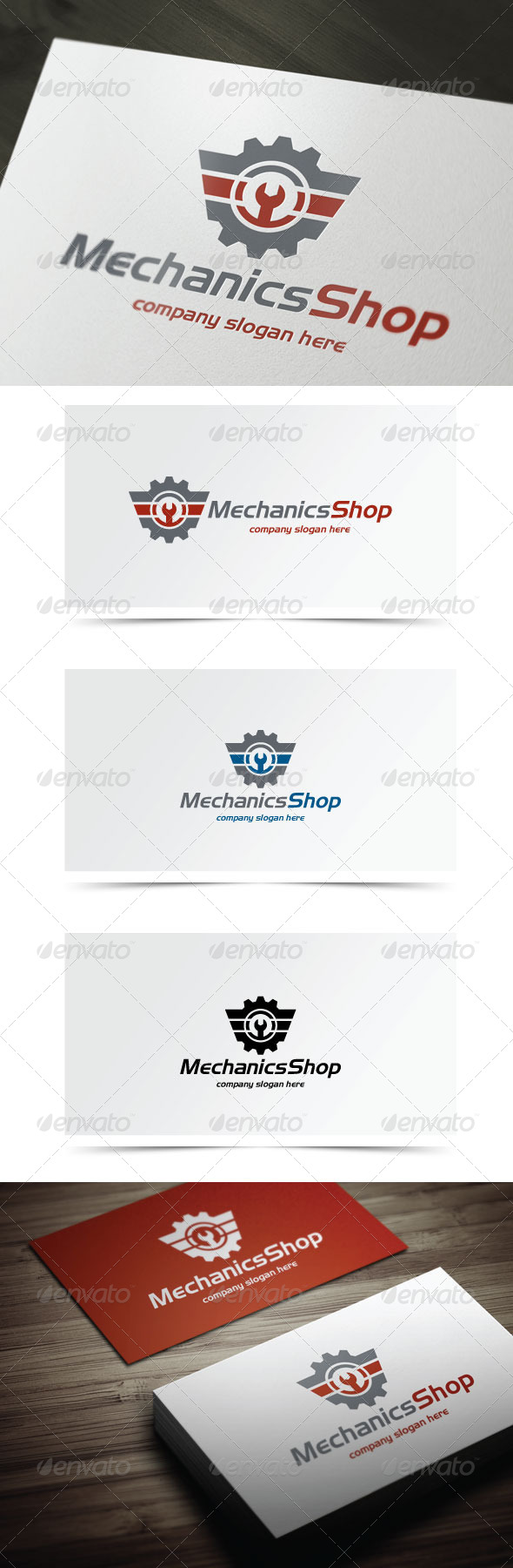 Mechanics Shop - Symbols Logo Templates