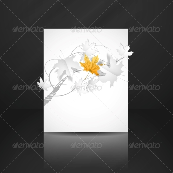 Autumn Leaves Background - Backgrounds Decorative