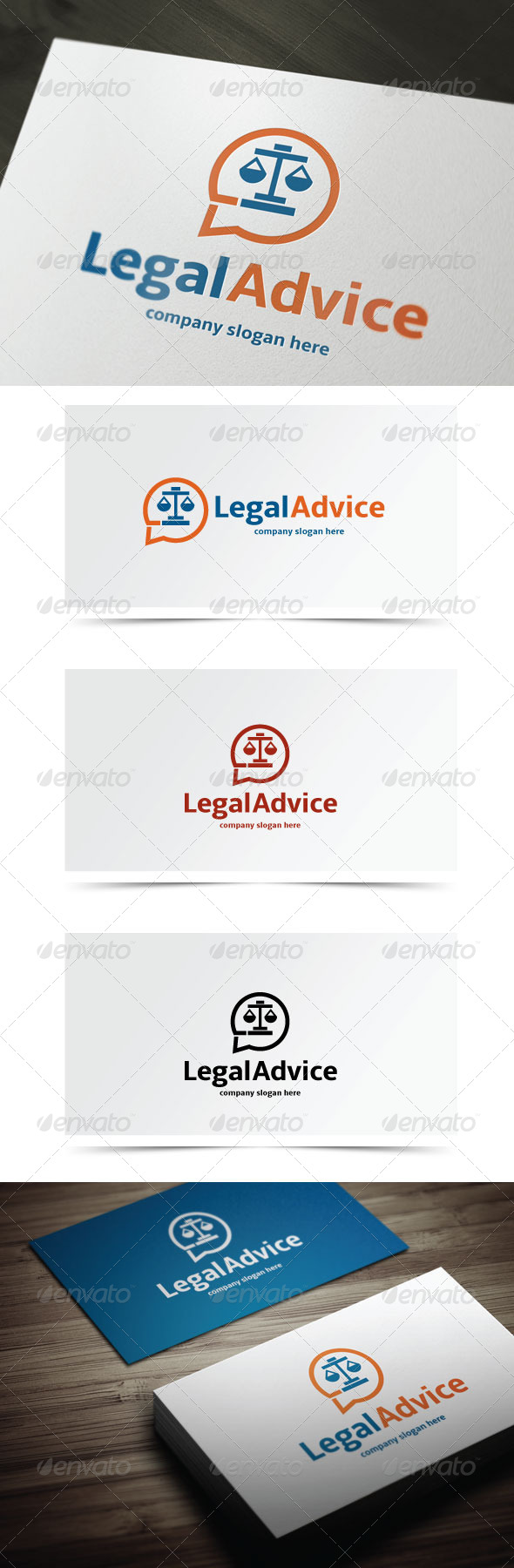 Legal Advice - Symbols Logo Templates