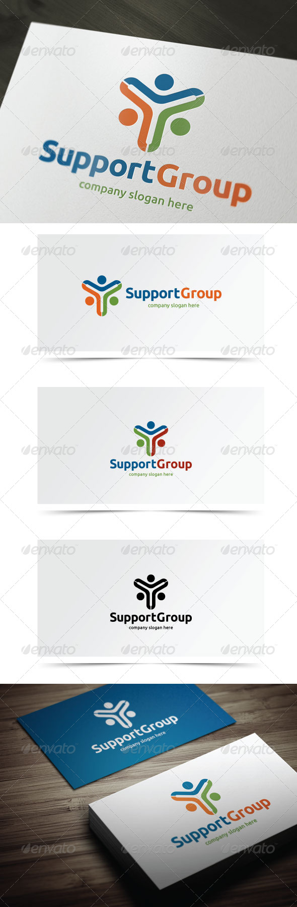Support Group - Humans Logo Templates