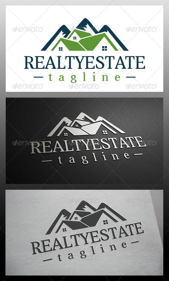 Mountain House Logo - Buildings Logo Templates