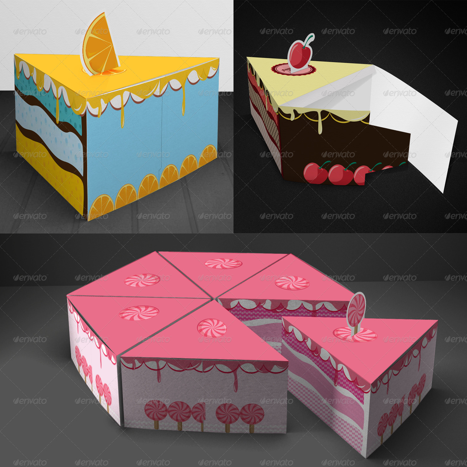 Cake Packaging Gift Box By Zeppelin Graphics Graphicriver