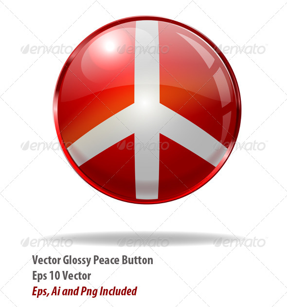 Peace Button - Web Elements Vectors