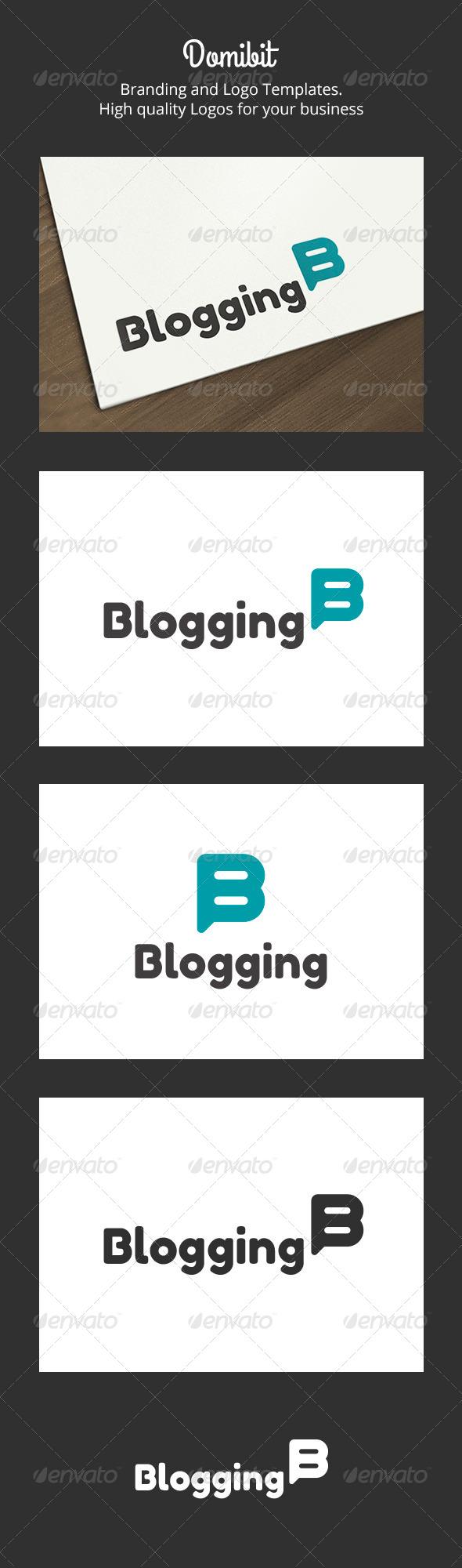 Blogging & B Letter Logo - Letters Logo Templates