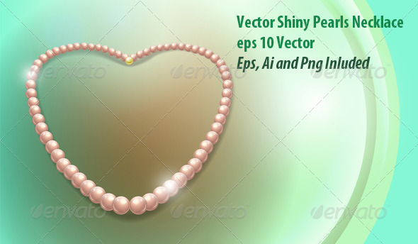 Pearls Necklace - Objects Vectors