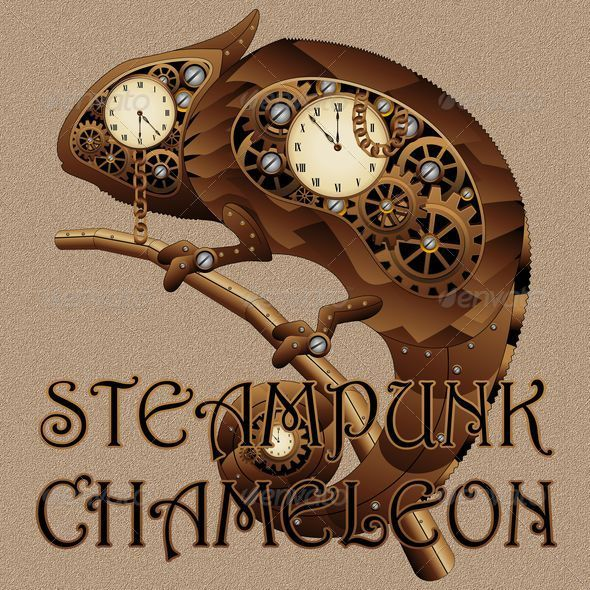 Steampunk Chameleon Style - Animals Characters