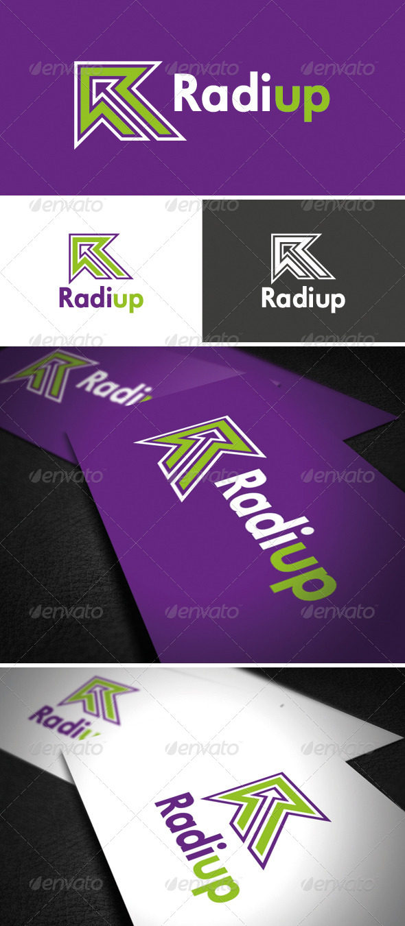 RadiUp Logo - Vector Abstract