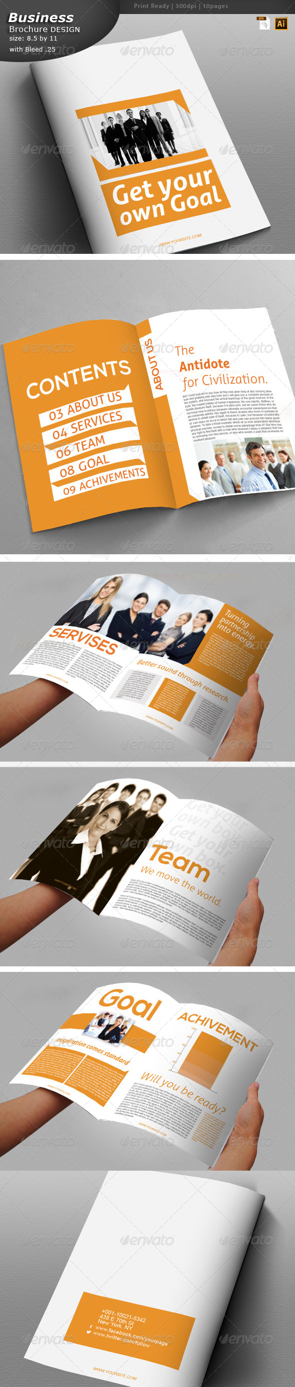 Office Brochure Design  - Brochures Print Templates