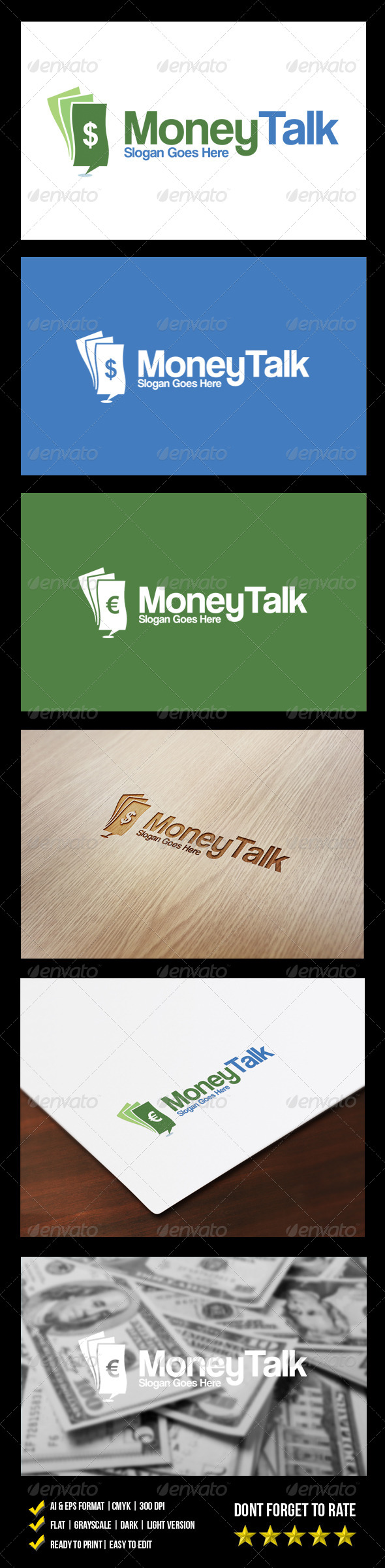 Money Talk Logo - Objects Logo Templates