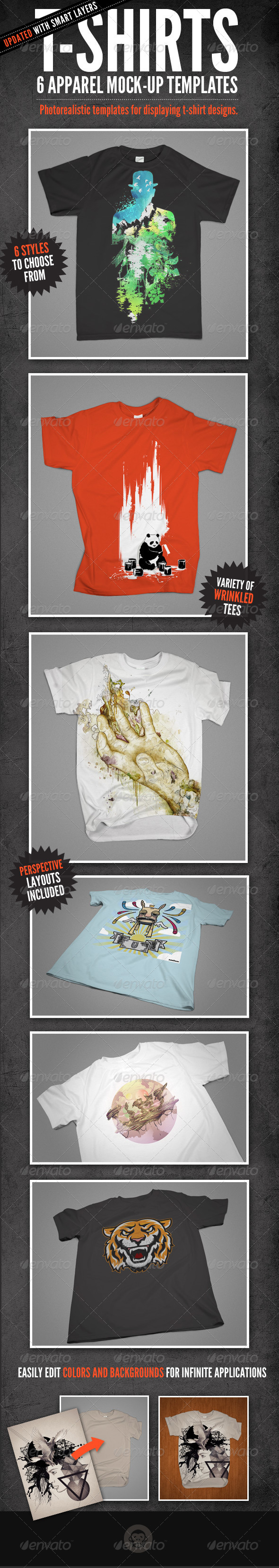 T-Shirt Mock-Ups - Apparel Design - T-shirts Apparel