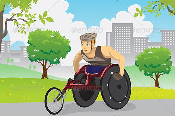 Wheelchair Athlete - Sports/Activity Conceptual