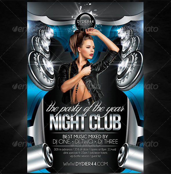 Night Club Flyer Template 4x6 By Dydier44 Graphicriver