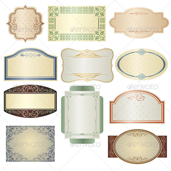 Vintage Frames - Decorative Vectors