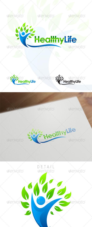 Healthy Life - Wellness & Medical Logo Design - Humans Logo Templates