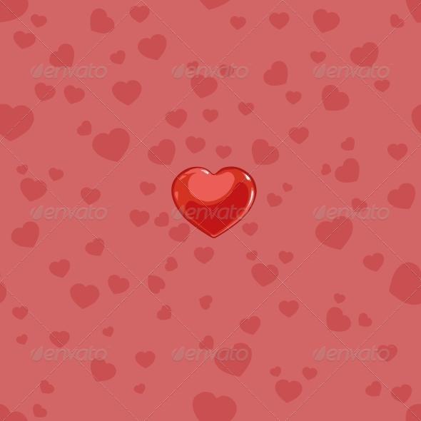Seamless Love Pattern - Patterns Decorative