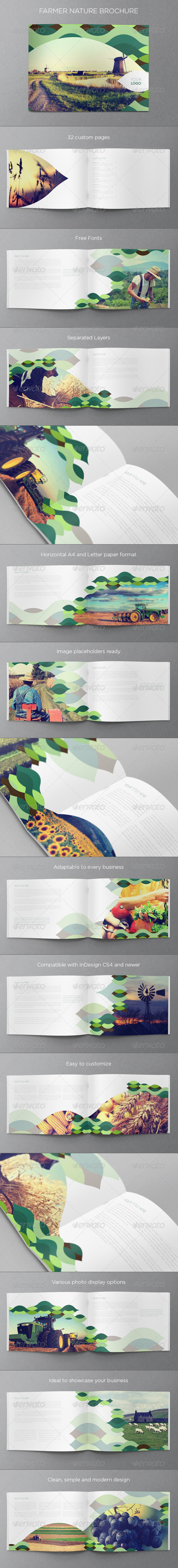 Green Nature Brochure - Brochures Print Templates
