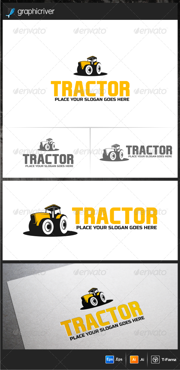 Tractor Logo Templates - Objects Logo Templates