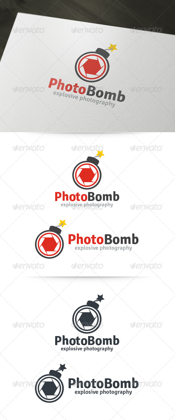 Photo Bomb Logo - Objects Logo Templates