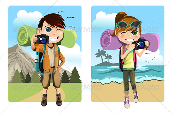 Traveling Kids - Sports/Activity Conceptual