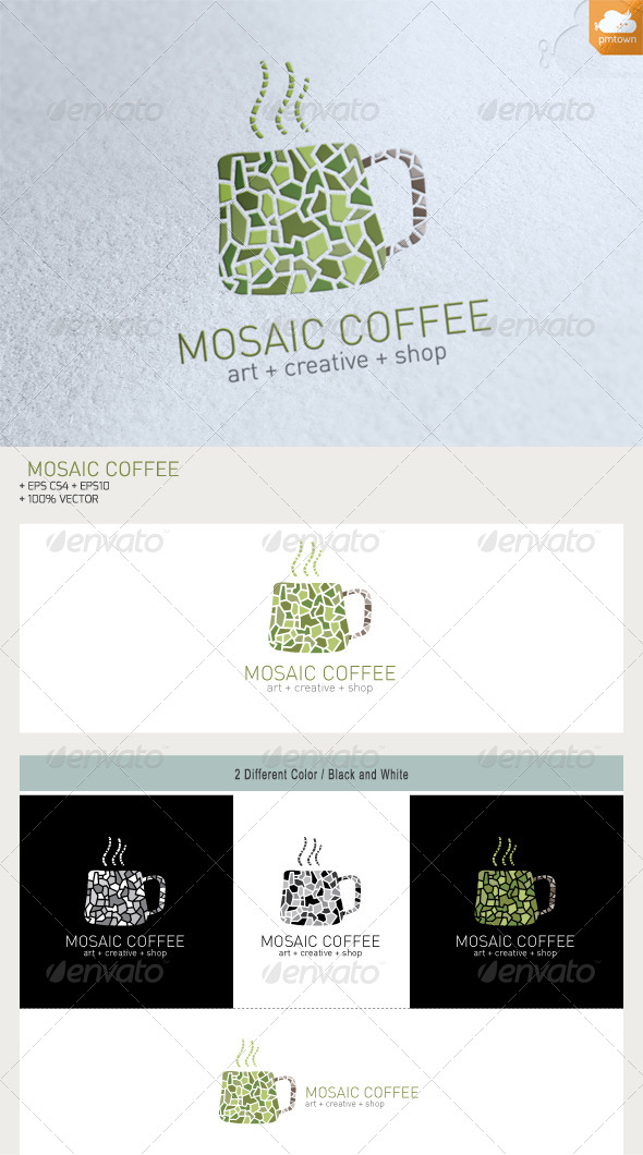Mosaic Coffee - Food Logo Templates