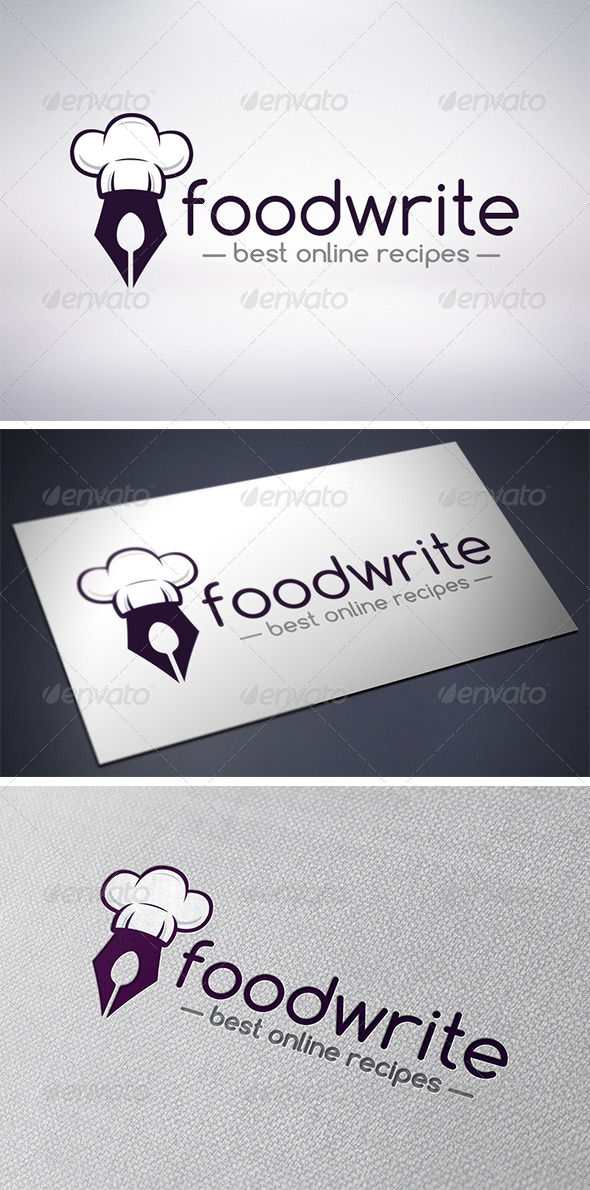 Recipe Writer Logo - Food Logo Templates