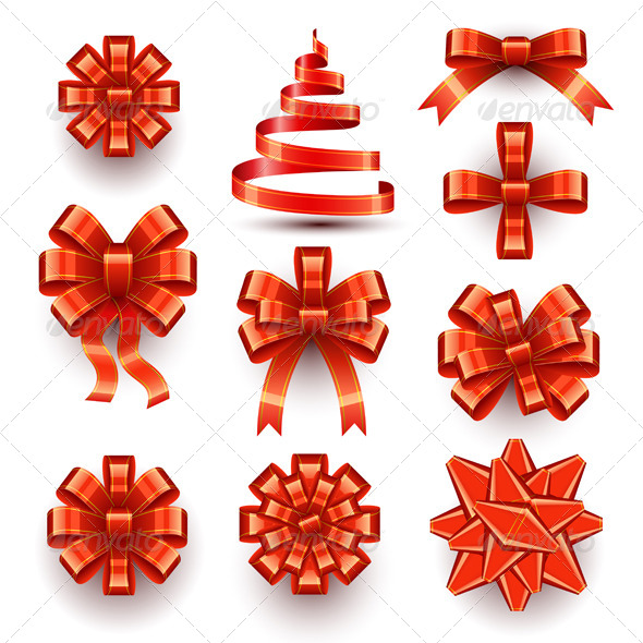 Bows and Ribbons - Christmas Seasons/Holidays