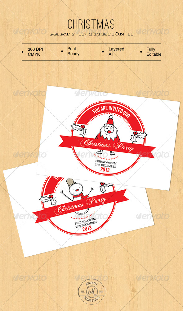 Christmas Party Invitation II - Holiday Greeting Cards