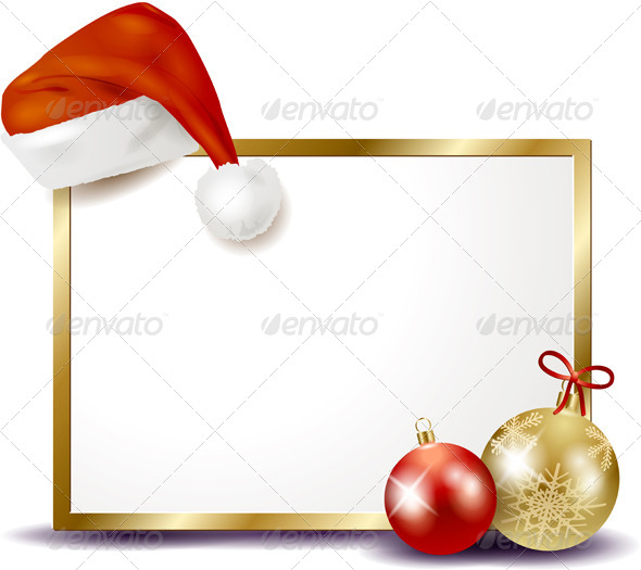 Christmas Signboard with Hat and Baubles - Christmas Seasons/Holidays