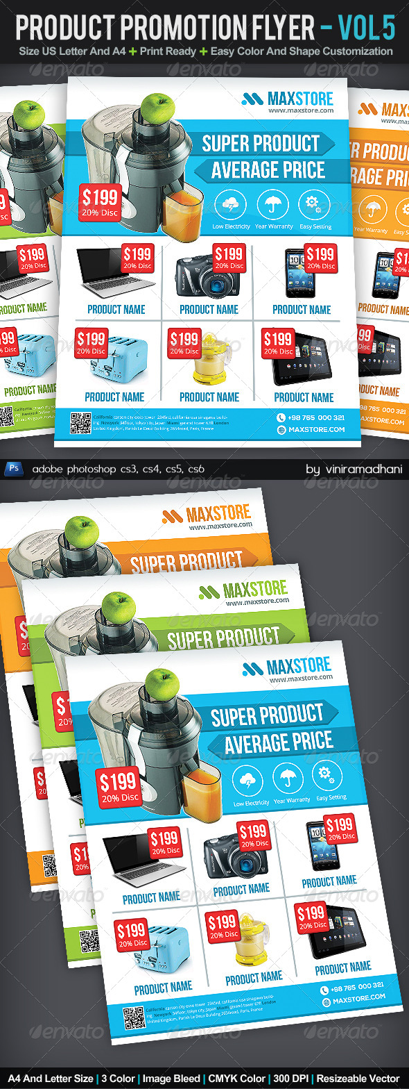 Product Promotion Flyer | Volume 5 - Commerce Flyers