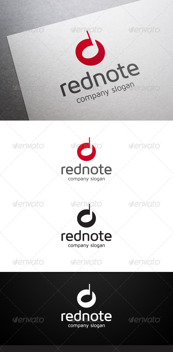 Red Note Logo - Symbols Logo Templates