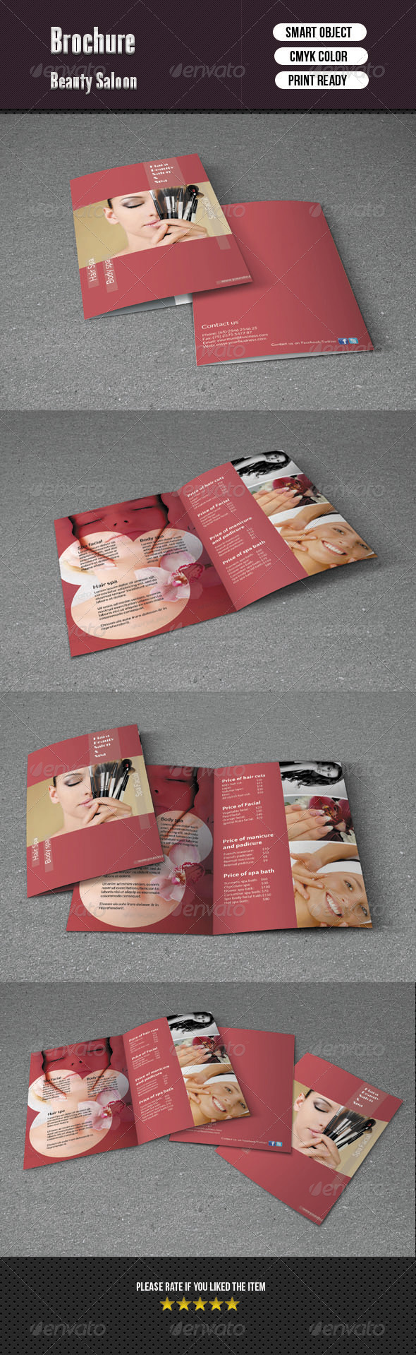 Bifold Brochure- Beauty Salon - Corporate Brochures