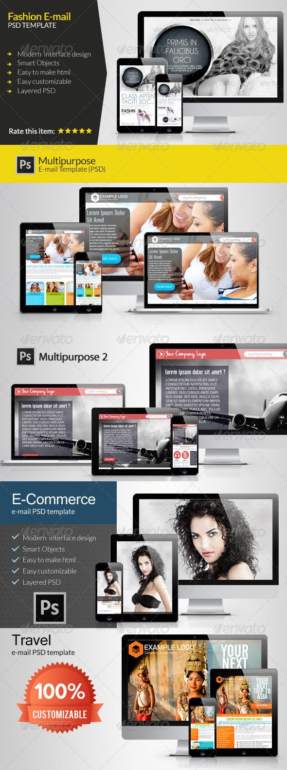 E-Newsletter Bundle - E-newsletters Web Elements