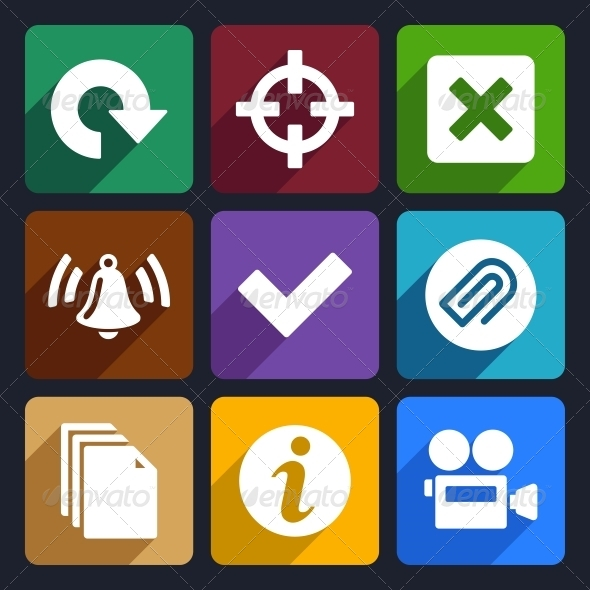 Multimedia Flat Icons Set 5 - Technology Icons