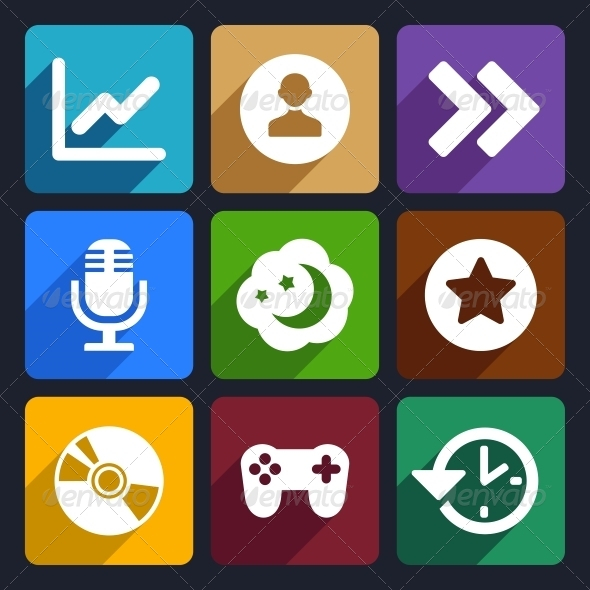 Multimedia Flat Icons Set 6 - Technology Icons