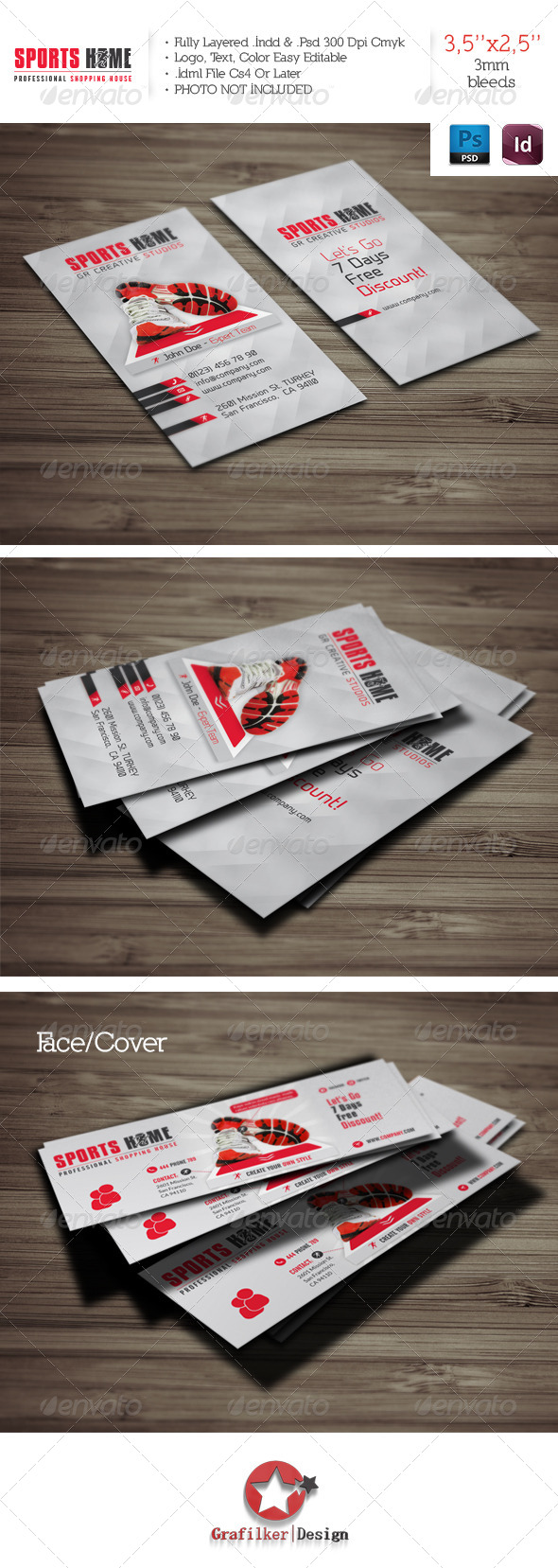 Sports House Business Card Template - Corporate Business Cards