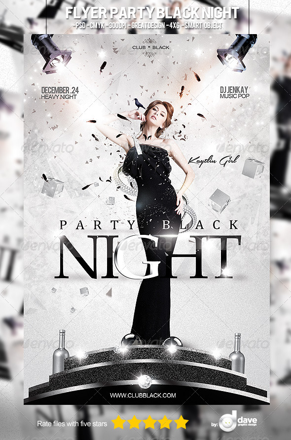 Flyer Party Black Night - Clubs & Parties Events