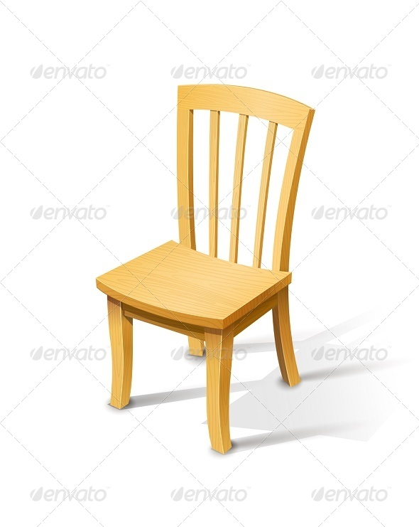Wooden Chair - Man-made Objects Objects