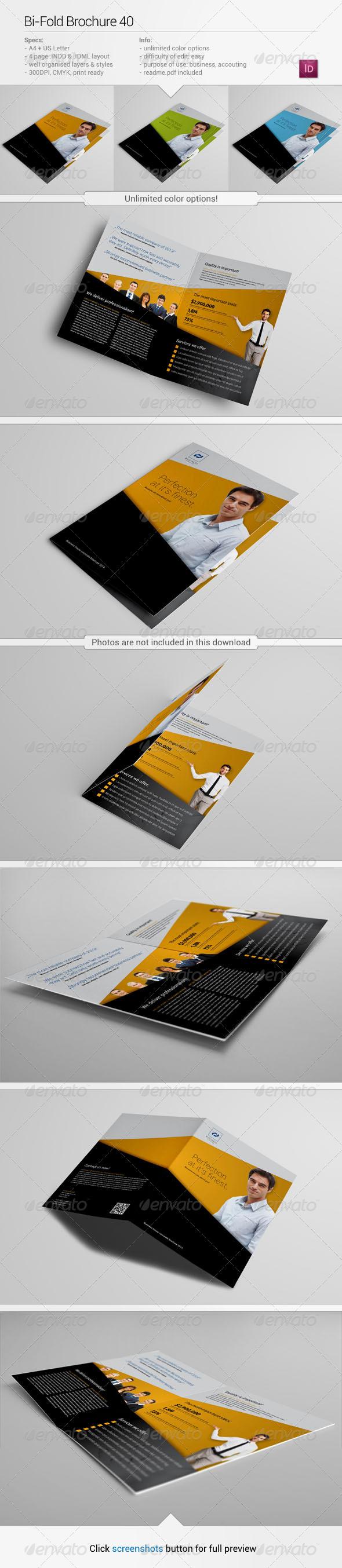 Bi-Fold Brochure 40 - Corporate Brochures