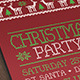 Christmas Party Flyer with Deers - GraphicRiver Item for Sale