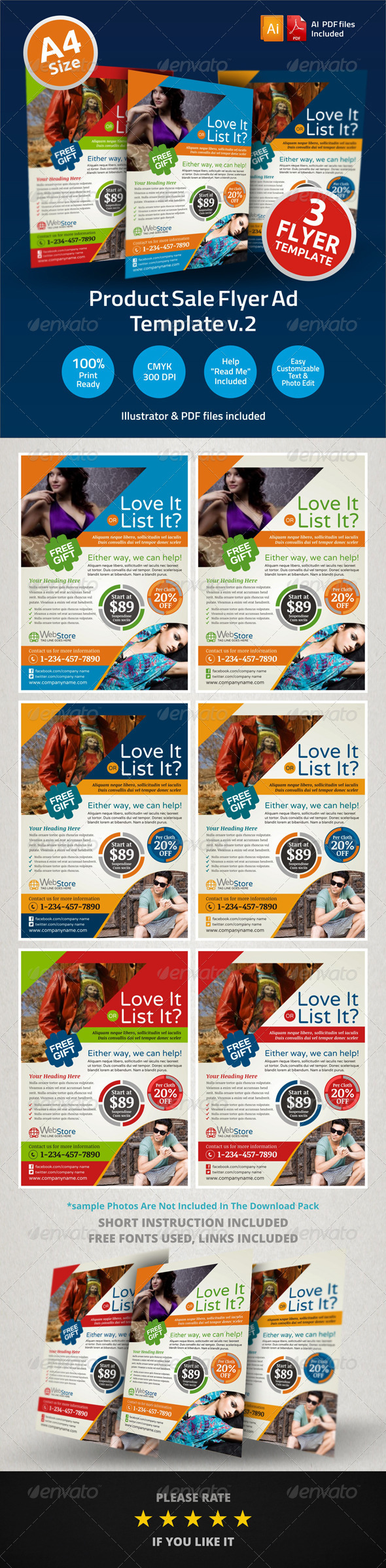 Product Sale Flyer Ad Template v2 - Commerce Flyers