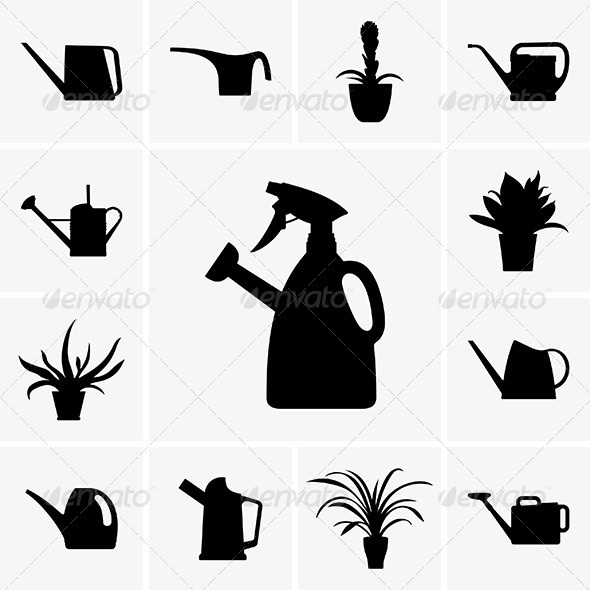 Watering Cans - Decorative Symbols Decorative
