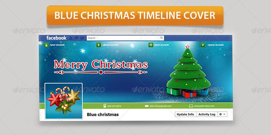 Blue Christmas Timeline Cover