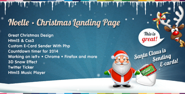 Noelle – Christmas Landing Page Template