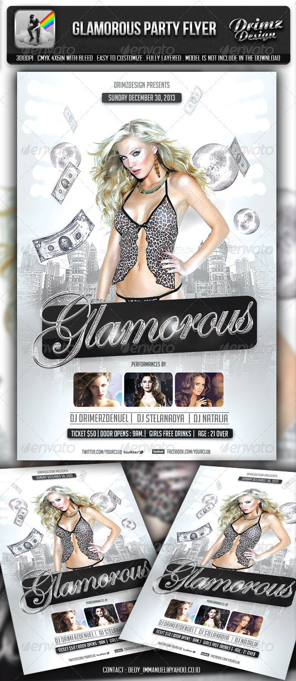 Glamorous Party Flyer - Events Flyers