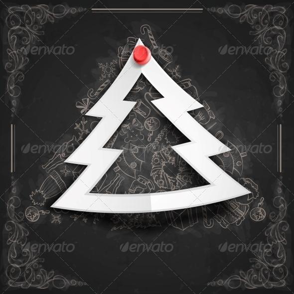 Merry Christmas Stylish Tree - Christmas Seasons/Holidays