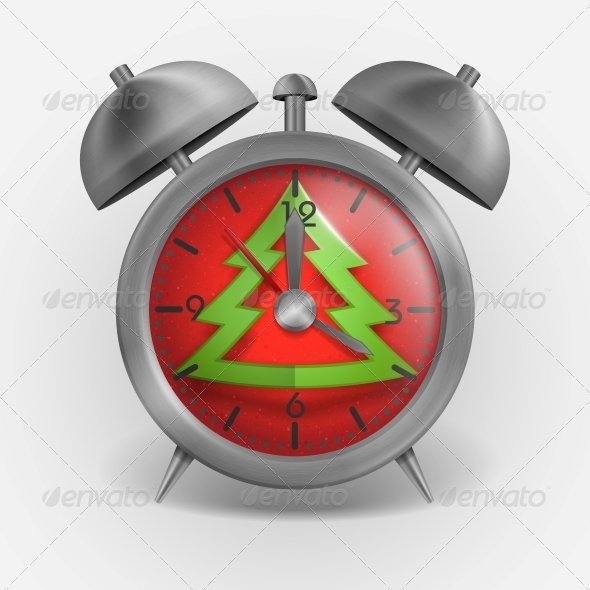 Metal Classic Style Alarm Clock - Christmas Seasons/Holidays