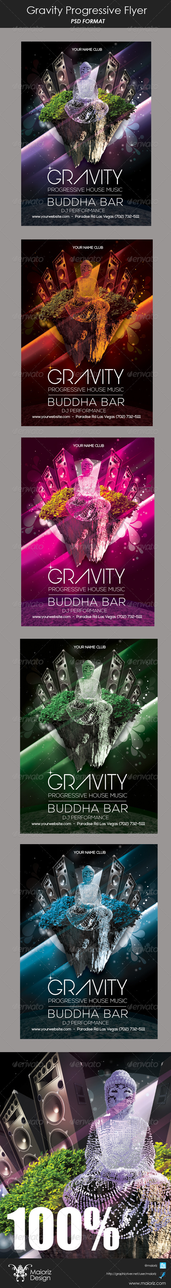 Gravity Pregressive Flyer - Clubs & Parties Events
