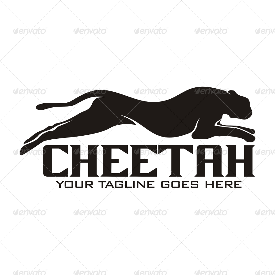cheetah logo by seviart graphicriver cheetah logo