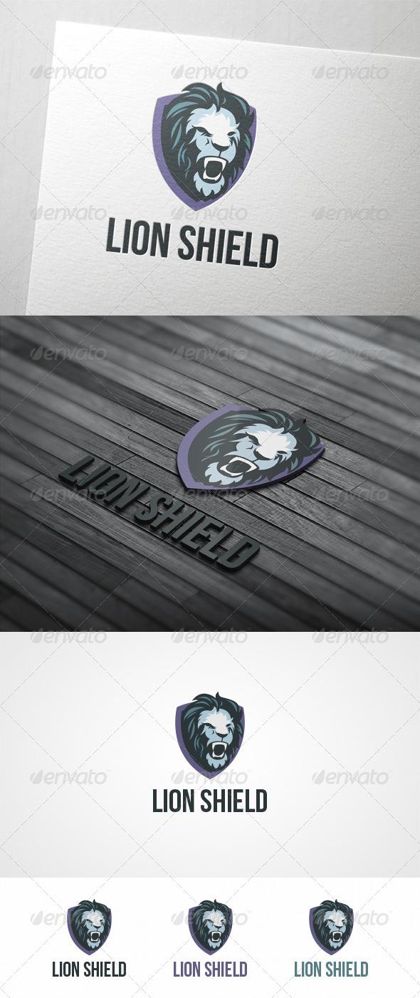 Lion Shield - Animals Logo Templates